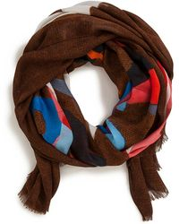 Akris | Masonite-print Silk Scarf | Lyst