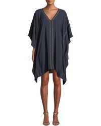 Jonathan Simkhai - Embroidered V-neck Coverup Caftan - Lyst