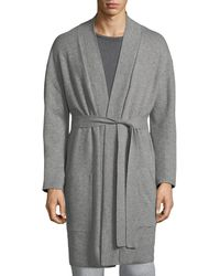 Neiman Marcus - Cashmere Patch-pocket Robe - Lyst