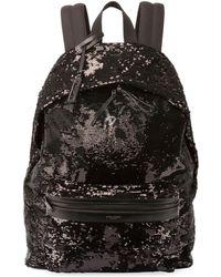 Saint Laurent - City Sequined Nylon Backpack - Lyst