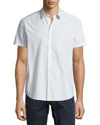 Theory | Zack S Shift Grid Short-sleeve Sport Shirt | Lyst