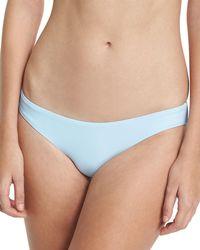 Pilyq - Solid Ruched Swim Bikini Bottom - Lyst