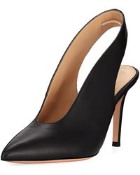Gianvito Rossi - High-vamp Lamb Leather Slingback Pumps - Lyst