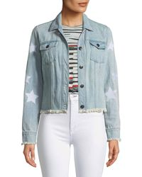 Cupcakes And Cashmere - Affleck Frayed Denim Jacket - Lyst