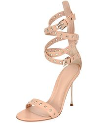 Gianvito Rossi - Grommet Ankle-wrap 105mm Sandals - Lyst