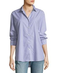Kule - The Hutton Button-front Oversized Oxford Shirt - Lyst
