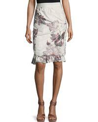 Brock Collection - Selin Floral Ruffle-hem Skirt - Lyst