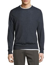 Vince - Wool Striped Crewneck Sweater - Lyst