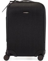 Ermenegildo Zegna - Pelle Tessuta Woven Leather Trolley Suitcause - Lyst