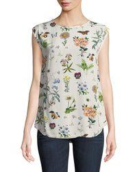 Joie - Kelda Floral-print Sleeveless Top - Lyst