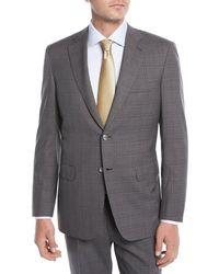Brioni - Men's Plaid Wool Two-piece Suit Gray - Lyst
