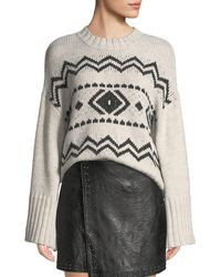 Cupcakes And Cashmere - Harden Jacquard Graphic Pullover Sweater - Lyst