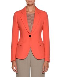 Giorgio Armani | Notched-lapel One-button Wool Jacket | Lyst
