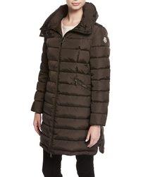 Moncler - Flammette Puffer Coat W/ Packable Hood - Lyst