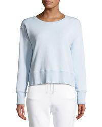 Frank & Eileen - Frayed Crewneck Cotton Sweatshirt - Lyst