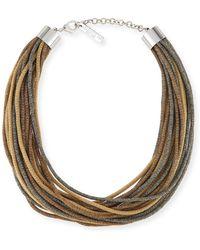 Lafayette 148 New York | Signature Mesh Multi-strand Necklace | Lyst