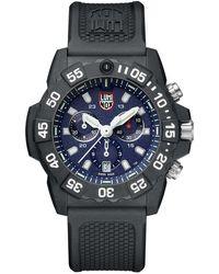 Luminox - Men's Navy Seal Chronograph Watch Black/blue - Lyst