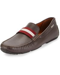 Bally - Pearce Leather Driver W/trainspotting Strap - Lyst