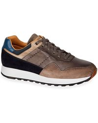 Neiman Marcus - Men's Varenna Leather/suede Lace-up Sneakers - Lyst