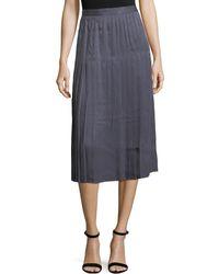 Lafayette 148 New York - Sabilla Posh Twill Pleated Skirt - Lyst