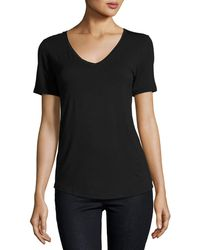Neiman Marcus | Soft Touch Relaxed V-neck Tee | Lyst