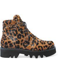 Tabitha Simmons - Neir Leopard-print Calf Hair Ankle Boots - Lyst