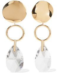 Isabel Marant - Gold-tone Crystal Earrings - Lyst