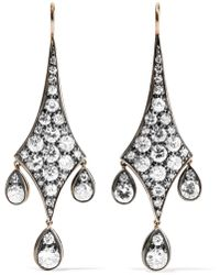 Fred Leighton - Collection 18-karat Gold, Silver And Diamond Earrings - Lyst