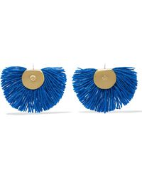 Katerina Makriyianni - Fan Fringed Gold-tone Earrings - Lyst