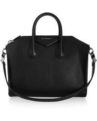 Givenchy - Medium Antigona Bag In Black Leather - Lyst