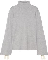 CLU | Bow-embellished Cotton-jersey Turtleneck Top | Lyst