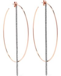 Diane Kordas - 18-karat Rose Gold Diamond Earrings - Lyst