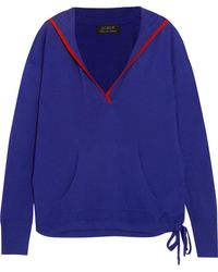J.Crew - Hooded Cashmere Sweater - Lyst