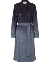 Sonia Rykiel - Checked Ombré Wool Trench Coat - Lyst