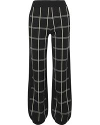 Chloé - Checked Intarsia Wool-blend Track Trousers - Lyst