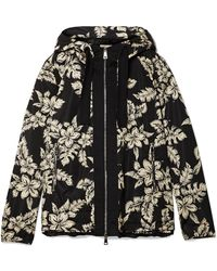 Moncler - Hooded Grosgrain-trimmed Printed Shell Jacket - Lyst