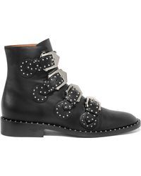 Givenchy | Elegant Studded Leather Ankle Boots | Lyst