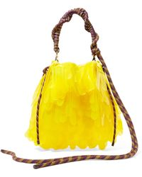 Dries Van Noten - Rope-trimmed Pvc-embellished Tulle And Canvas Tote - Lyst