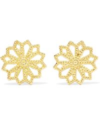 Grace Lee - Lace Deco Vi 14-karat Gold Earrings Gold One Size - Lyst