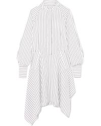 JW Anderson - Distressed Striped Cotton Dress - Lyst