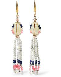 Isabel Marant - Tasseled Bead And Shell Earrings - Lyst
