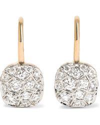Pomellato - Nudo 18-karat Rose Gold Diamond Earrings - Lyst