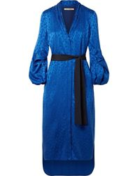 Hellessy - Helga Belted Jacquard Midi Dress - Lyst