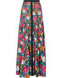 Mary Katrantzou - Parakeet Floral-print Silk-twill Maxi Skirt - Lyst