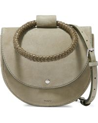 Theory - Whitney Small Braided Leather And Suede Shoulder Bag - Lyst