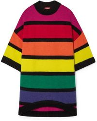 STAUD - Shawn Oversized Striped Knitted Sweater - Lyst