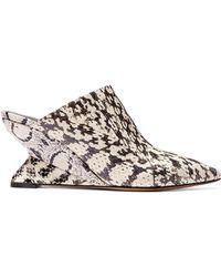 12f8ff968717 Jimmy Choo Keane Metallic Elaphe and Rope Gladiator Sandals in Gray ...