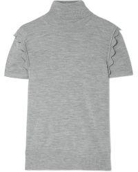 Chloé - Scalloped Wool Turtleneck Sweater - Lyst