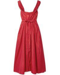Brock Collection - Davi Off-the-shoulder Taffeta Midi Dress - Lyst