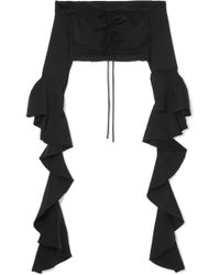 Ellery - High Noon Off-the-shoulder Ruffled Jersey Top - Lyst